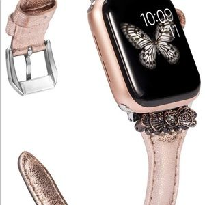 Apple Accessories - Apple Watch Rose gold thin leather beautiful  New